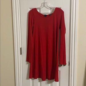 Plain red dress